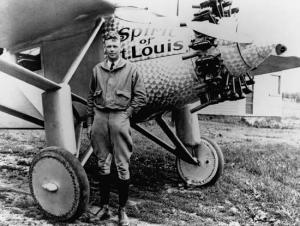 Lindbergh and his plane.